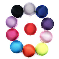 CW_ Mini Round Earphone Earbuds USB Cable Storage Bag Carrying Case Pouch Clever