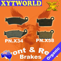 FRONT REAR Brake Pads YAMAHA YZ 125 R S T V W 2T 2003 2004 2005 2006 2007
