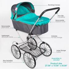 Paradise Galleries Reborn Baby Doll Classic Pram Stroller for Toddler Dolls