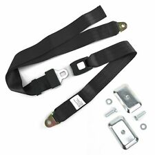 2pt Black Standard Buckle Lap Seat Belt with Flat Plate Hardware SafTboy truck