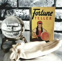 Fortune Teller Book 1938 Crystal Ball Hand Magic Mystic Palm Reader 4 PC Set