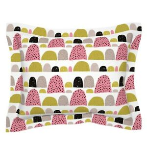 Mid Century Mod Gumdrops Abstract Dots Girls Room Pillow Sham by Roostery