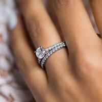 2.50 Ct Round Cut Diamond Engagement & Wedding Ring Set 14k White Gold
