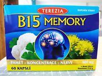 B15 Memory 60 capsules 600 mg Organic Bio Food Vitamins - SAVE UP TO 30%