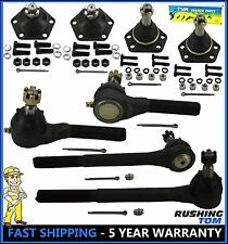 Blazer S10 Bravada 4WD 8 Pc Kit Inner & Outer Tie Rod Upper & Lower Ball Joint