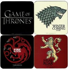 Game of Thrones You Win Or You Die four drinks coaster set   (py)