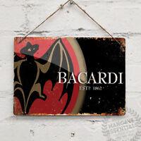 BACARDI RUM Replica Vintage Metal Wall sign Retro Pub Bar Mancave Drink Holiday