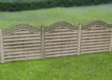 Gaugemaster GM452 3 x Laser Cut Wood Fence with Lattice  OO Gauge - 1st Class