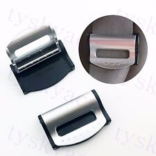 2X Car Part Seat Belt Safety Adjuster Regulate Holder Clip Clamp Stopper Buckle