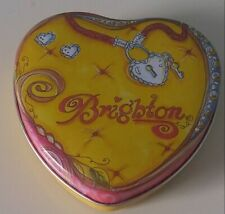 Brighton Heart Shaped Tin Can Container Trinket Keepsake Collectors Box