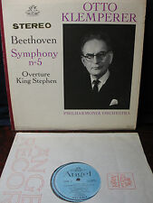 OTTO KLEMPERER  BEETHOVEN No. 5  OVERTURE  KING  STEPHEN  ANGEL S 35843NM NM