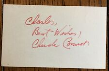 """Chuck Connors """"Rifeman"""" Signed Vintaged 3x5 Card W/COA"""