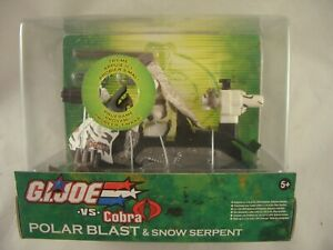 GI Joe  Vs Cobra Polar Blast Vehicle with Snow Serpent Figure