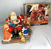 Grandeur Noel Musical Santa Collector's1996 Illuminated Figurine Jingle Bell