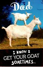 Funny I Get Your Goat Father's Day Card Crackers Greeting Cards