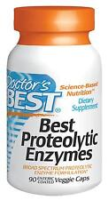 DOCTORS BEST PROTEOLYTIC ENZYMES - 90 ENTERIC COATED VEG CAPS - DIGESTION ENZYME