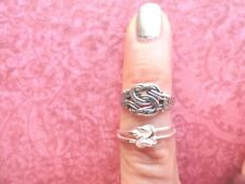 rings - 2 Piece Set Braid knot sterling silver toe