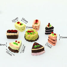 8Pcs Dollhouse Miniature Cakes Sweets Assorted Mini Cute Baby Kids Child Gifts