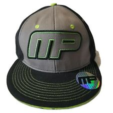 Muscle Pharm Men's Grey Black Green Snapback Hat Cap Brandmakers New