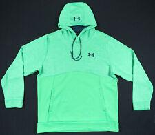Under Armour Storm 1 Loose Fit Neon Green Black Logo Hoodie Hooded Sweatshirt L