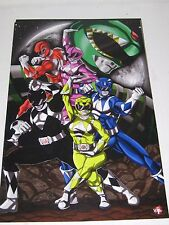 Power Rangers Print Deviant Graphic Art by Wil Woods/ Tyrine Carver