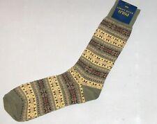 POLO RALPH LAUREN Men's Wool Lambswool Fair Isle Socks, Heather Olive, Fits Most