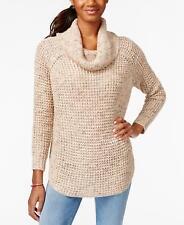 AMERICAN RAG Womens Oatmeal Long Sleeve Cowl Neck Warm Knit Sweater  XL