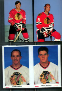 60 Team Issued Chicago Black hawks Post Cards VG to Ex Miscellanous Years