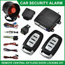 Car Alarm System Anti-theft Remote Control Locking Keyless Entry Kit + 2 Remotes
