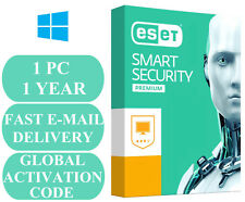 ESET Smart Security Premium 1 PC 1 YEAR GLOBAL ACTIVATION CODE 2018 E-MAIL ONLY
