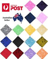 Men's Pocket Square Handkerchief Weddings, Formal & Business- Paisley Pattern