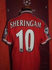 SHERINGAM MANCHESTER UNITED 1998/99 MAGLIA SHIRT CALCIO FOOTBALL MAILLOT JERSEY