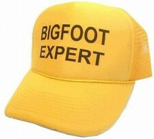 Bigfoot Expert hat Trucker Hat mesh hat snap back hat Solid Yellow new auction