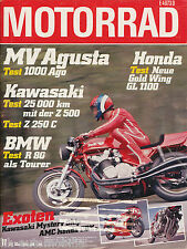 Motorrad 11 80 BMW R 80 Cagiva EGS 250 Laverda 1000 MV Agusta 1000 Ago Z500 1980