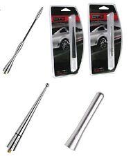 Antenna varie auto-pinna universale in alluminio cromato D-GEAR da 8-10-12-17 cm