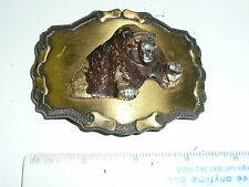 WOW Vintage Hunting 3D 1977 Raintree Promo Grizzly Bear Belt Buckle -no bail