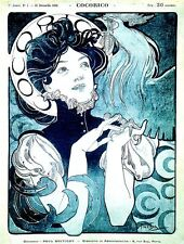 Cocorico 1898 Poster Alphonse Mucha Poster Art Nouveau Picture Print NEW
