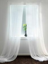 "IKEA sheer curtains 10 panels white mesh net gauzy 98x110"" wedding party drapes"