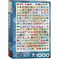 Eurographics Flags Of The World Puzzle (1000 Pieces) - 1000 Pieces