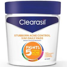 Clearasil Stubborn Acne 5in1 Facial Cleansing Pads,90Ct (Packaging may vary) 3pk