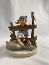 New ListingGoebel Hummel Feathered Friends Girl W Swans Figurine