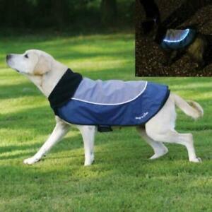S to XL Waterproof Pet Dog Jacket Vest Raincoat Clothes Rain Coat With LED Light