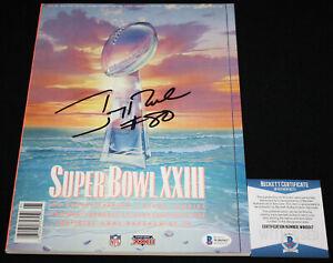 Jerry Rice signed Super Bowl XXIII Program, 49ers, Beckett BAS WB05017