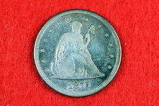 Estate  Find 1875  - CC Seated Liberty Twenty Cent Piece!! #G7466