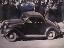 Early 8 x 10 Photo Featuring 1936 Ford 5 Window Coupe in Front of Cone's Store