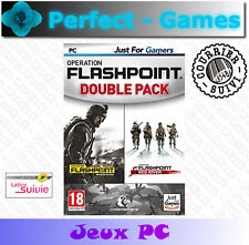 FLASHPOINT DOUBLE PACK DRAGON RISING et RED RIVER PC Games jeux PC neuf