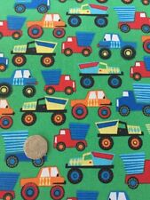 Michael Miller Little Movers Trucks Lorries Cotton Quilting Fabric FQ 50cmx54cm