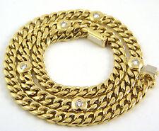 Reinheit VS Echtschmuck-Halsketten & -Anhänger im Collier-Stil aus Gelbgold mit Brilliantschliff