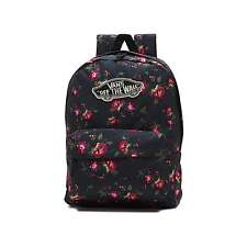 Vans Realm Floral- Black/Pink -Women's Backpack NWT