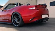 Heck Spoiler Aufsatz Cup Dachspoiler Schwarz Glanz für Mazda MX5 IV 4 ND
